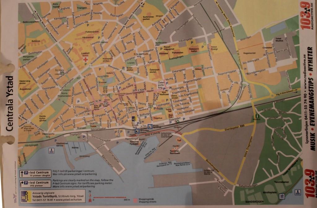 Mapa Ystad